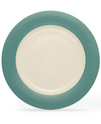 Noritake Dinnerware, Colorwave Turquoise Rim Round Platter