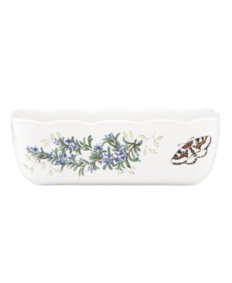 Lenox Bakeware, Butterfly Meadow Herbs Loaf Pan