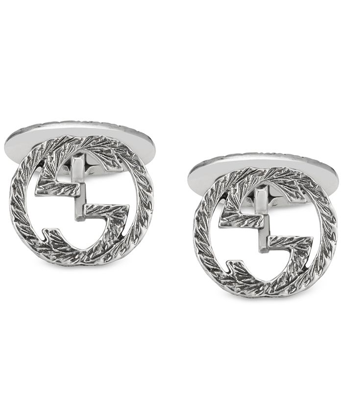 Gucci - Men's Interlocking Cuff Links in Sterling Silver YBE45530500100U