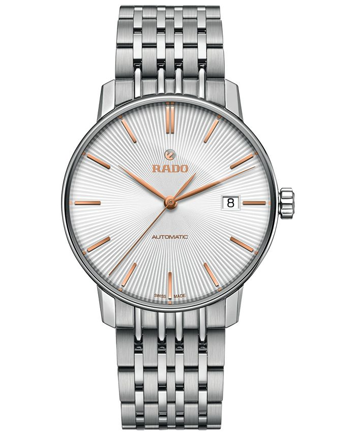 Rado - Men's Swiss Automatic Coupole Classic Stainless Steel Bracelet Watch 37.7mm