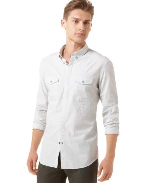 Calvin Klein Shirt, Slim Fit Poplin Stripe