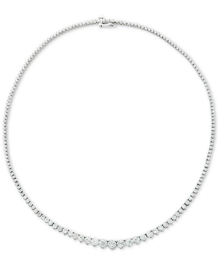 """Macy's - Diamond Fancy 16-3/4"""" Collar Necklace (10 ct. t.w.) in 14k Gold"""