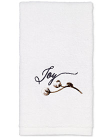 Avanti Modern Farmhouse Cotton Embroidered Fingertip Towel