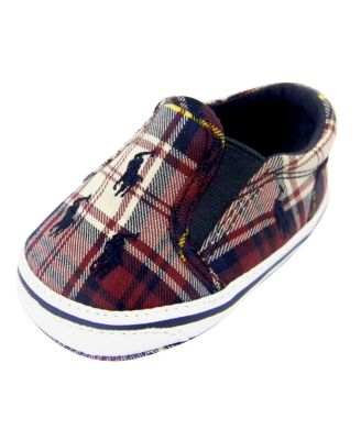 Ralph Lauren Baby Shoe, Baby Boys Plaid Canvas Shoe