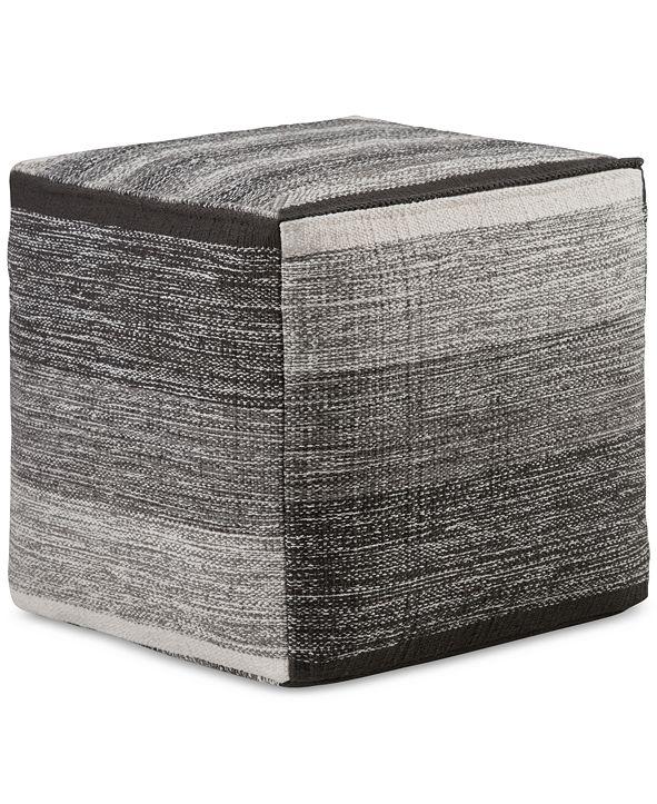Simpli Home Wenson Cube Pouf