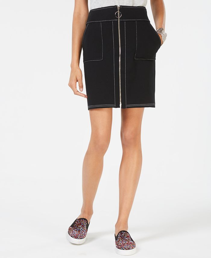 Inc International Concepts Inc Zip Front Mini Skirt Created For Macy S Reviews Skirts Women Macy S