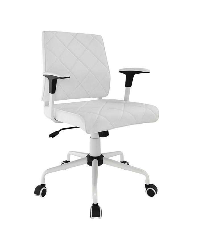 Modway - Lattice Vinyl Office Chair in White
