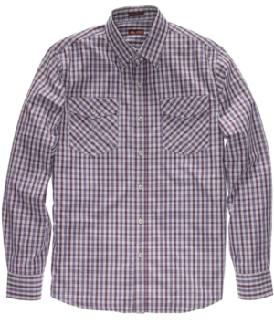 Izod Shirt, Slim Fit Tartan Plaid