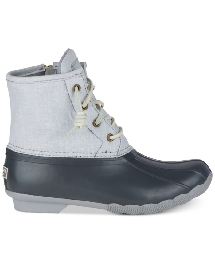 Sperry Women's Saltwater Duck Booties, Created for Macy's & Reviews - Boots - Shoes - Macy's
