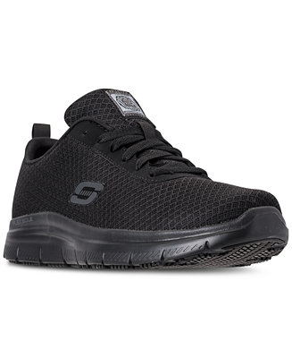 Flexible candidato cerca  Skechers Men's Work Relaxed Fit: Flex Advantage - Bendon SR Slip Resistant  Athletic Sneakers from Finish Line & Reviews - Finish Line Athletic Shoes -  Men - Macy's