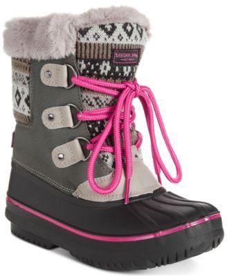 London Fog Big Girls Snow Boot