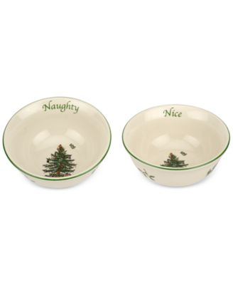 Christmas Tree Naughty and Nice Dip Bowl Set, Created for Macy's