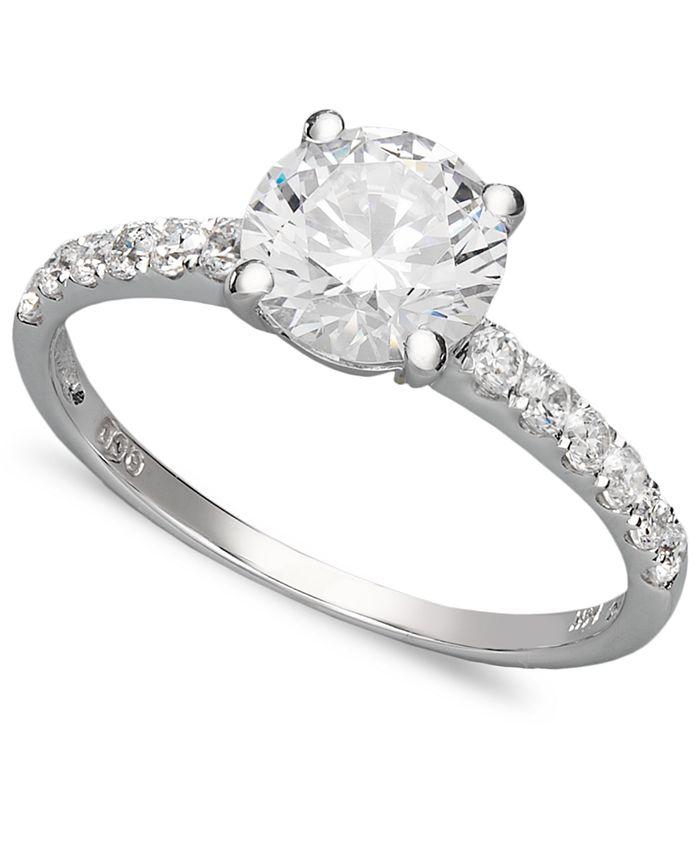 Arabella - 14k White Gold Ring, Swarovski Zirconia Wedding Ring (2-3/4 ct. t.w.)