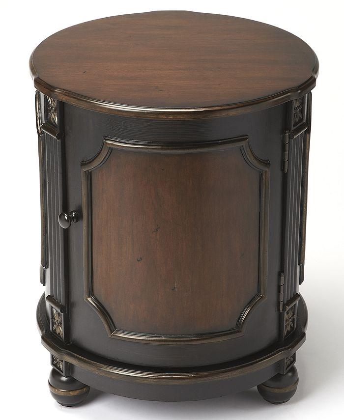 Butler - Cafe Noir Drum Table, Quick Ship