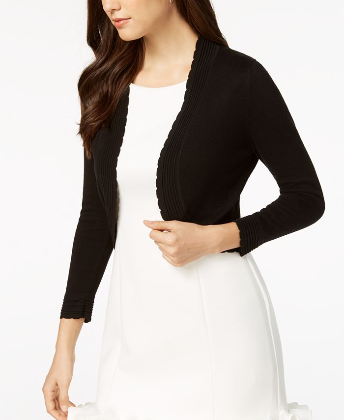 Jessica Howard - Open-Front Cropped Cardigan