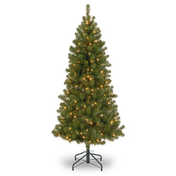 Holiday Lane 7' Canadian Grande Fir Tree with 300 Clear Lights