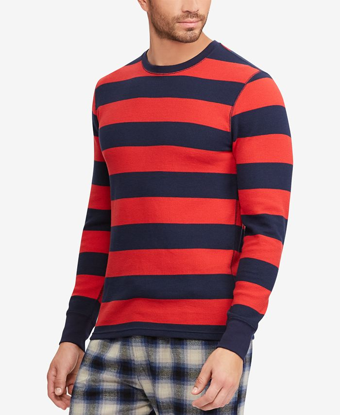 Polo Ralph Lauren Men's Striped Waffle-Knit Thermal & Reviews ...