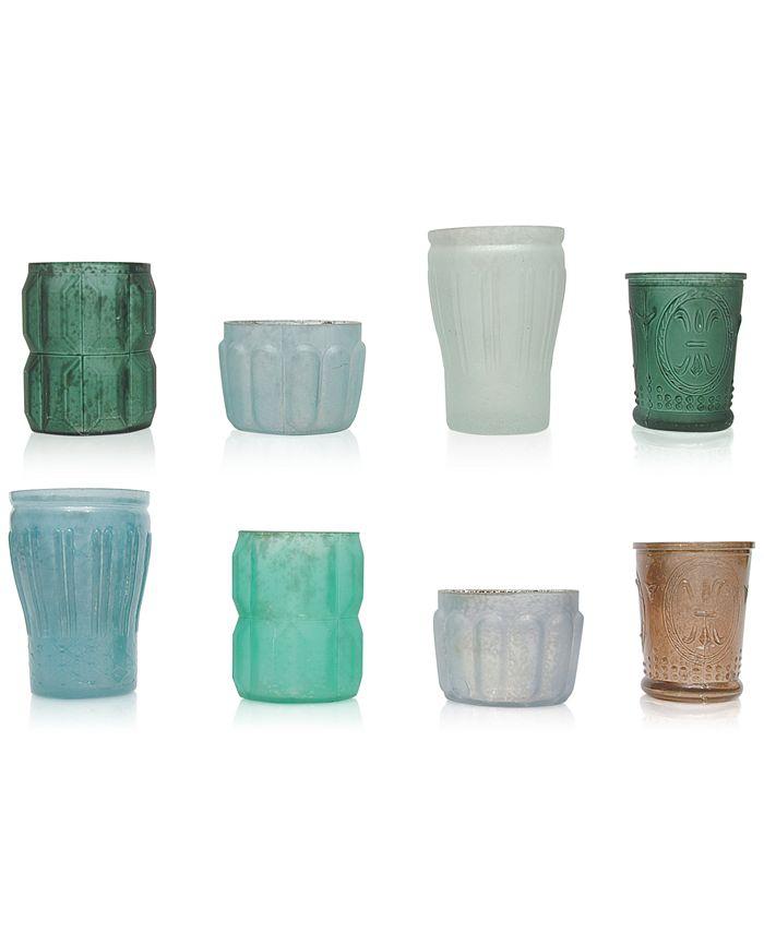 3R Studio - Mercury Green Glass Tealight Holders, Set of 8