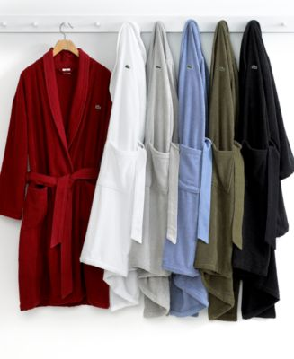 CLOSEOUT! Lacoste Men's Textured Bath Robe