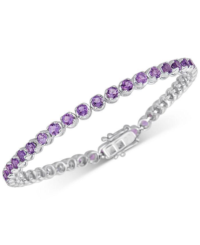 Macy's - Amethyst Tennis Bracelet (4 ct. t.w.) in Sterling Silver