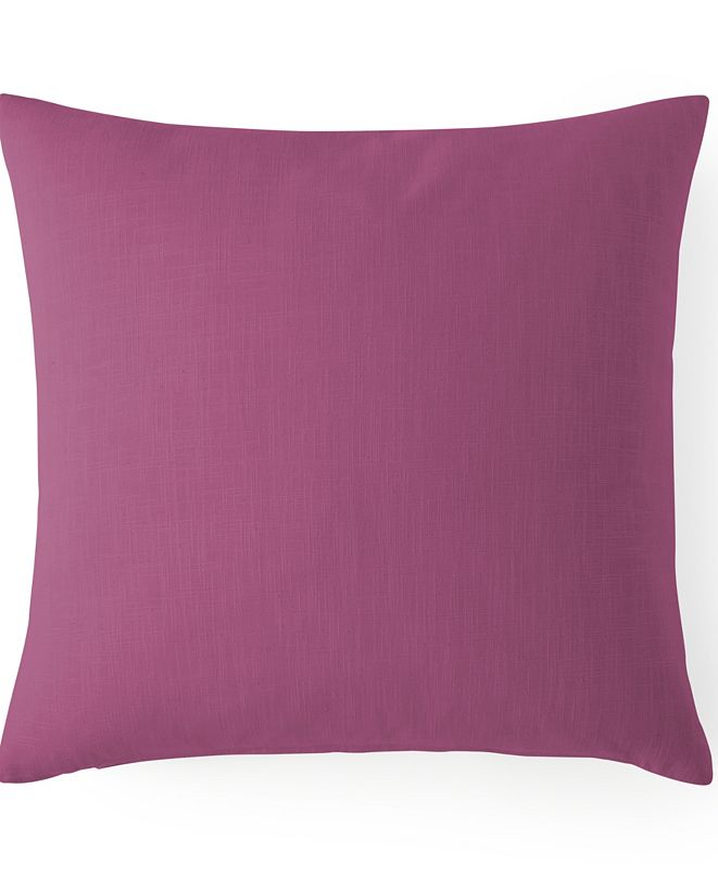"Colcha Linens Cambric Berry Square Cushion 20""x20"""