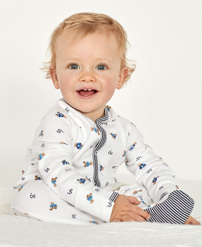 Polo Ralph Lauren - Baby Coverall, Baby Boys Bear Printed Coverall