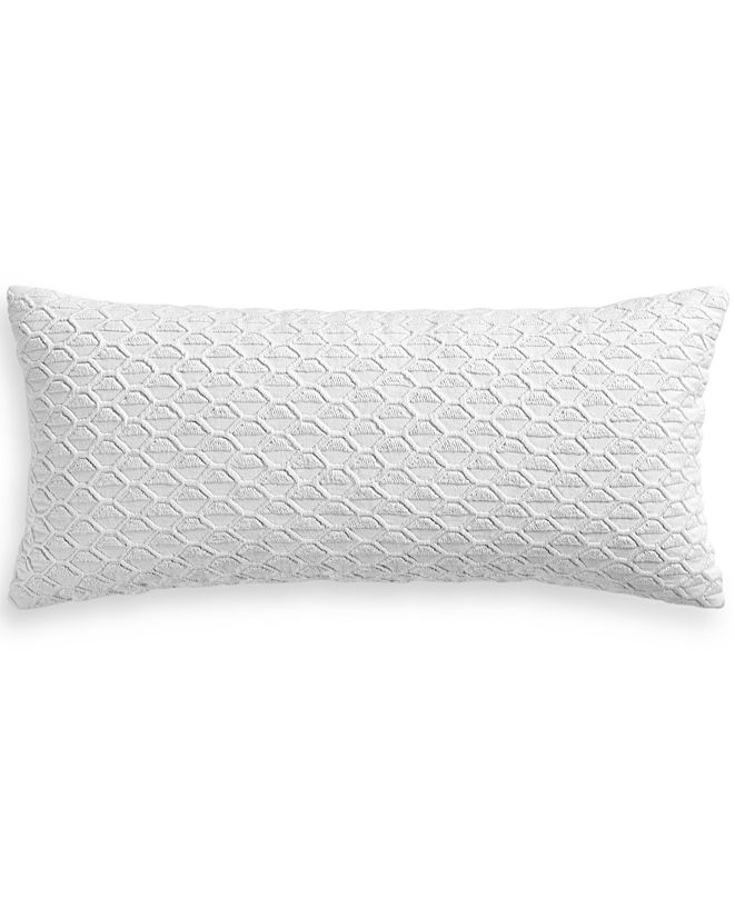 """Hotel Collection Seaglass Cotton Seafoam 12"""" x 26"""" Decorative Pillow, Created for Macy's"""