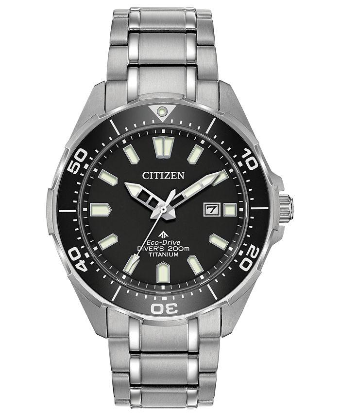 Citizen - Men's Promaster Diver Super Titanium Bracelet Watch 44mm