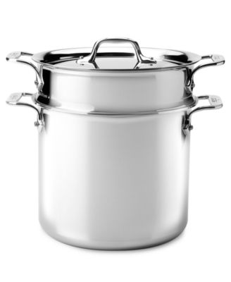 All-Clad Stainless Steel 7 Qt. Covered Stockpot with Colander Insert