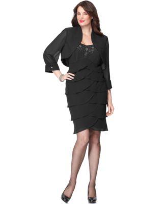 S l fashions black dress and black