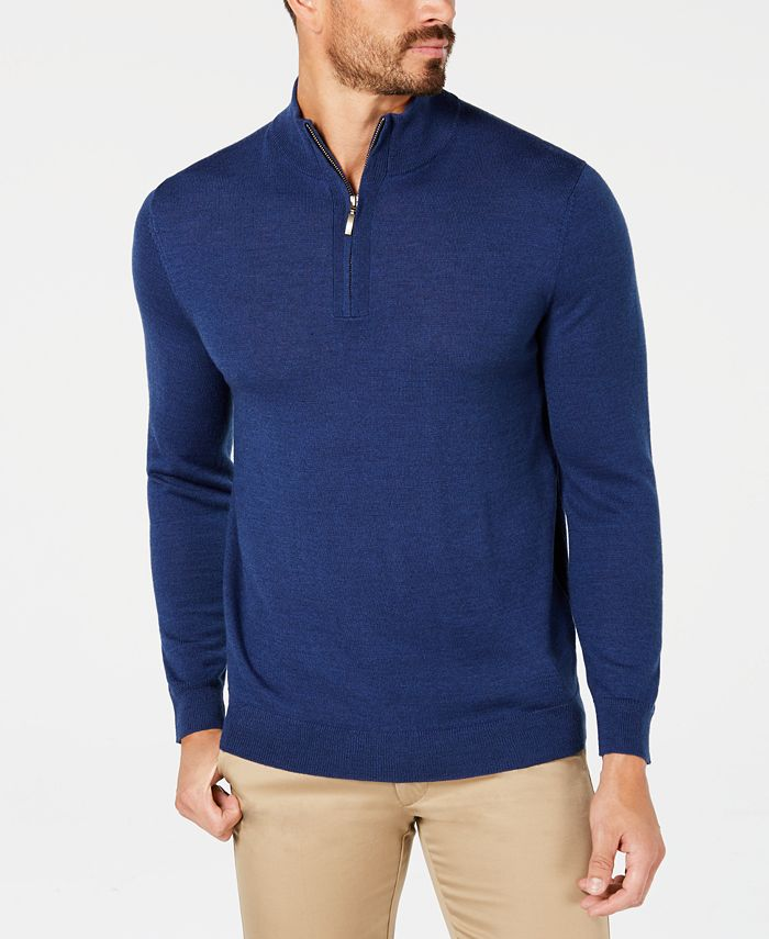 Club Room - Men's Regular-Fit 1/4-Zip Sweater