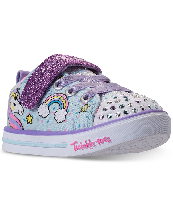 Accesorios Lujo rima  Skechers Toddler Girls' Twinkle Toes: Shuffles - Sparkle Lite Unicorn  Light-up Stay-Put Closure Casual Sneakers from Finish Line & Reviews -  Finish Line Athletic Shoes - Kids - Macy's
