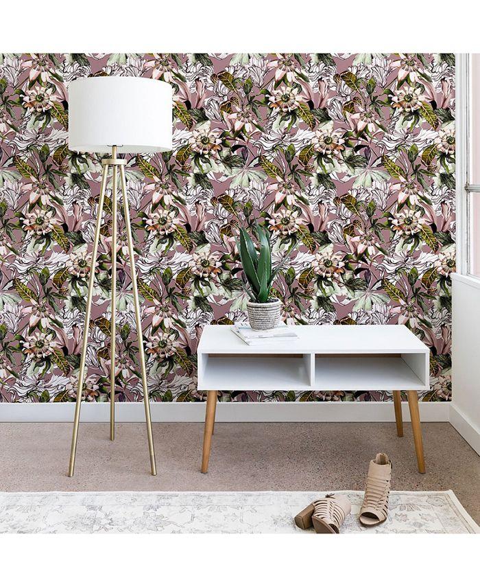 Deny Designs - Marta Barragan Camarasa Blooming Wild Botanical Paradise Wallpaper