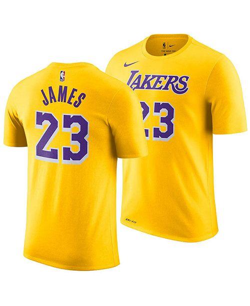 Nike Men S Lebron James Los Angeles Lakers Icon Player T Shirt Reviews Sports Fan Shop By Lids Men Macy S