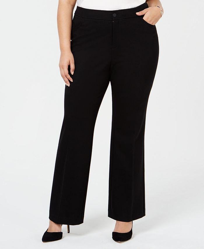 Anne Klein - Plus Size Wide-Leg Trousers