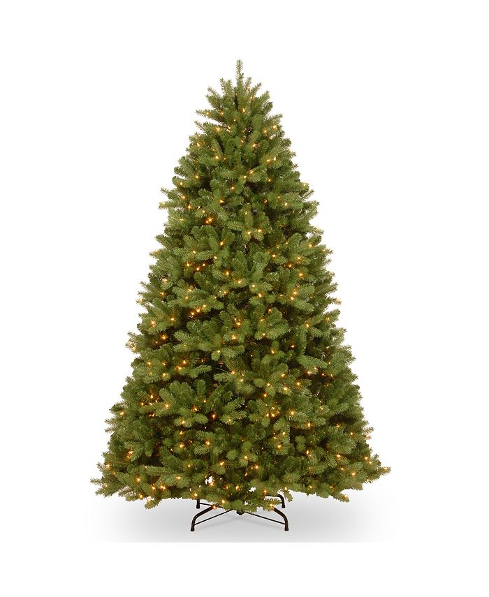National Tree Company - National Tree 6' Feel Real  Newberry ™  Spruce Hinged Tree with 600 Clear Lights