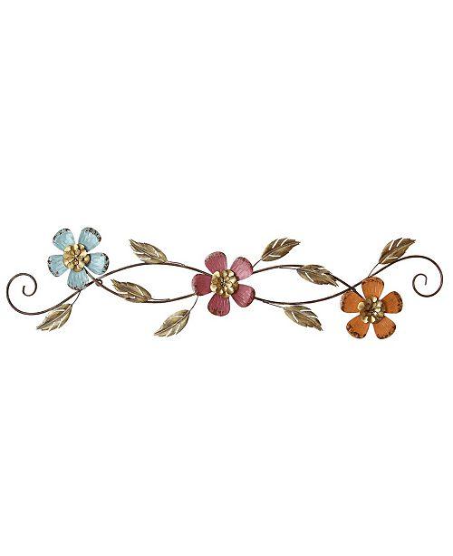 Stratton Home Decor Stratton Home Decor Floral Scroll Wall Decor Reviews Wall Art Macy S