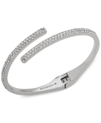 Crystal Bypass Bangle Bracelet