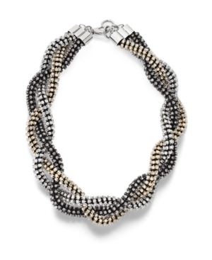 Bar III Necklace, Braided Crystal Necklace