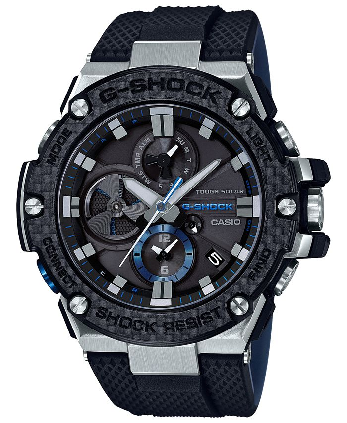 G-Shock - Men's Solar Black Resin Strap Watch 58.3mm