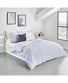 Lacoste Home Sideline Cotton 3-Pc. Dobby Stripe Full/Queen Duvet Cover Set, Created for Macy's