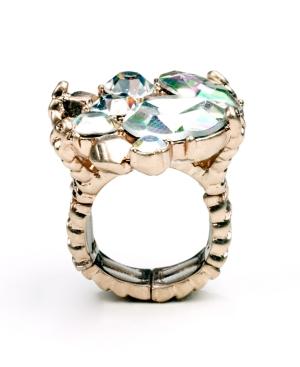 RACHEL Rachel Roy Ring, Rose Gold Tone Glass Cluster Cocktail Ring