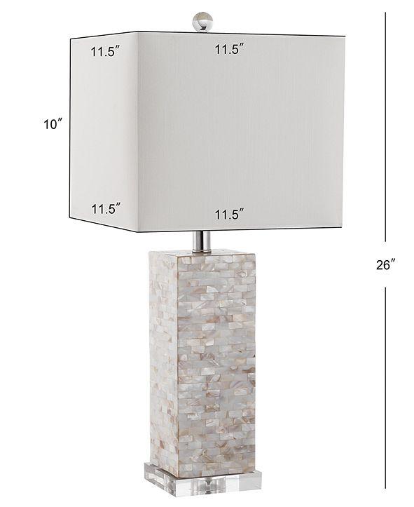 Safavieh Set of 2 Homer Shell Table Lamps