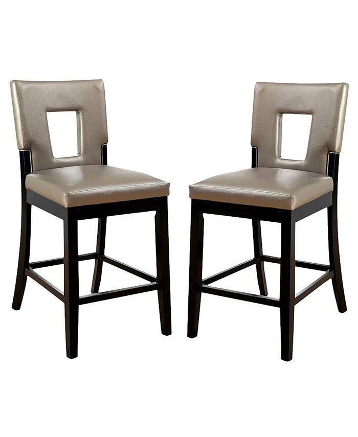 Furniture of America - Nosbisch Pub Chair (Set Of 2), Quick Ship