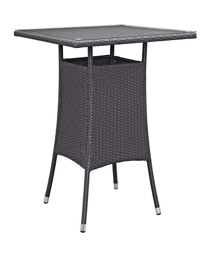 Modway - Convene Small Outdoor Patio Bar Table In Espresso