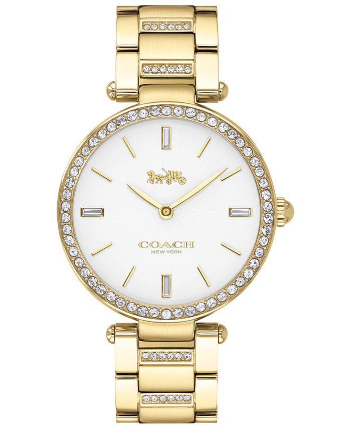 COACH - Women's Park Gold-Tone Stainless Steel Bracelet Watch 34mm