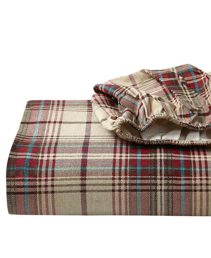 Eddie Bauer - Queen Plaid Flannel Sheet Set