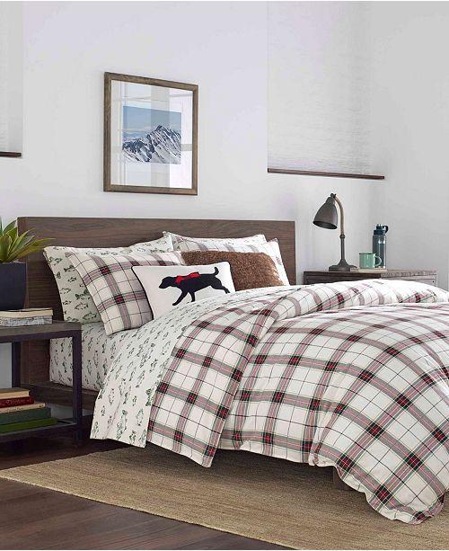 Eddie Bauer Riverdale Twin Plaid Flannel Red Comforter Set Reviews Comforters Fashion Bed Bath Macy S
