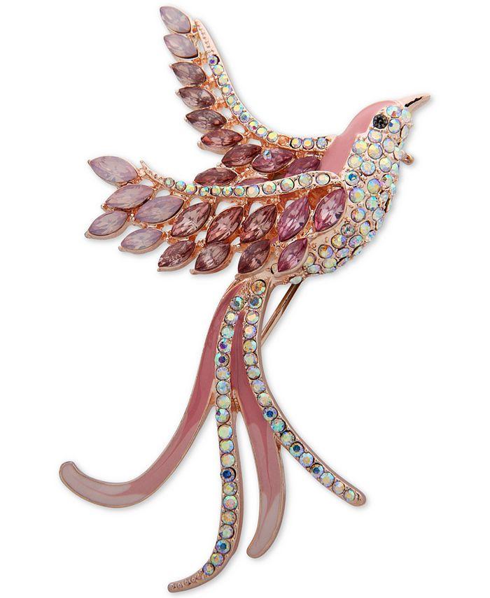Anne Klein - Gold-Tone Crystal Bird Pin