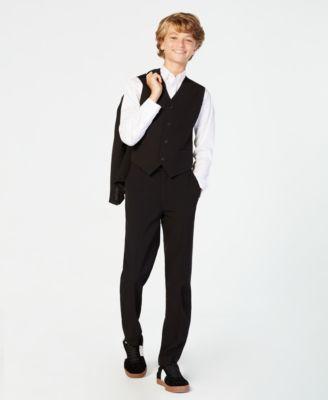 Big Boys Slim Fit Stretch Suit Pants